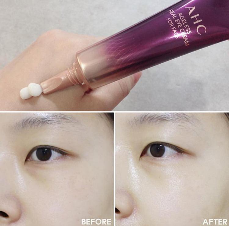 Kem Dưỡng Vùng Mắt AHC Ageless Real Eye Cream For Face 12ml - Phân Phối Bởi Nhà Bán Hàng