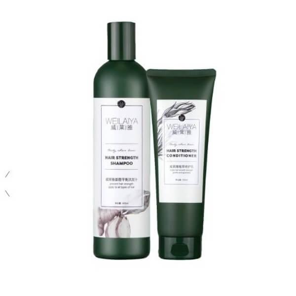 Bộ đôi sản phẩm dầu gội và dầu xả Weilaiya Hair Strength