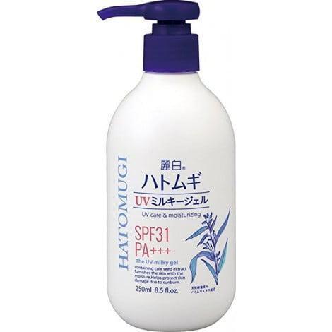Sữa dưỡng thể chống nắng Hatomugi SPF31 PA+++ Nhật Bản 1