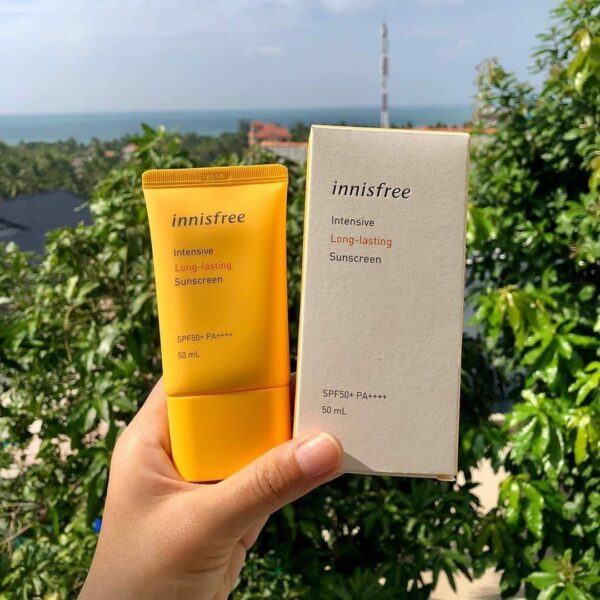 Kem Chống Nắng Lâu Trôi Innisfree Intensive Long Lasting Sunscreen SPF 50+ PA++++ (50 ml)