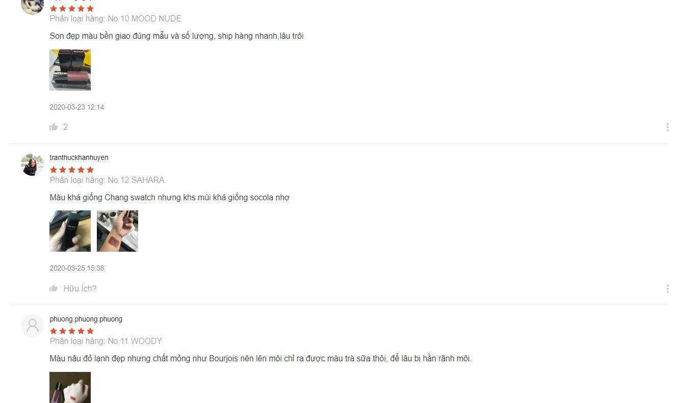 Các đánh giá chân thật từ người dùng (nguồn: BlogAnChoi)