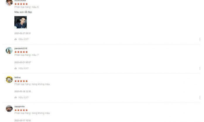Khách hàng đánh giá 5 sao cho sản phẩm (nguồn: BlogAnChoi)