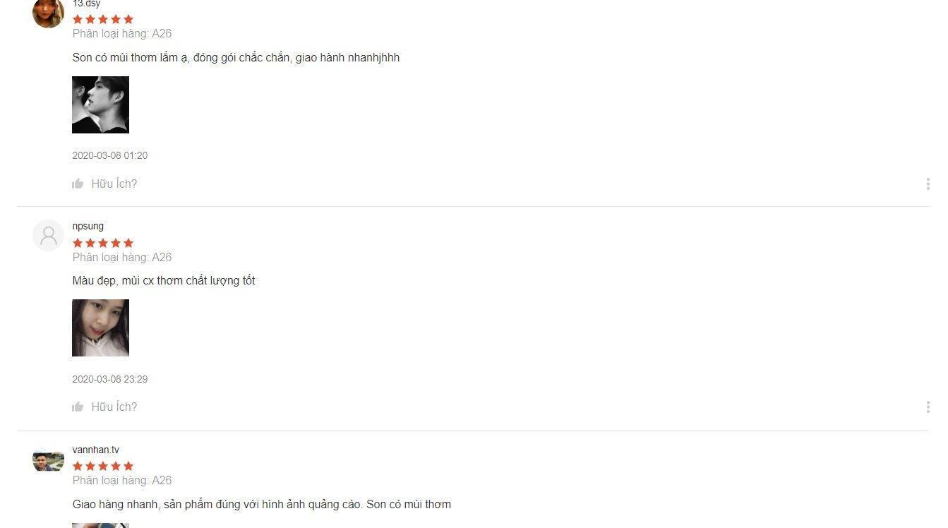 Các đánh giá tích cực từ các khách hàng trên Shopee (nguồn: BlogAnChoi)