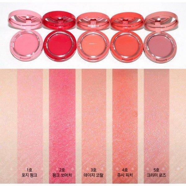 Bảng màu của Aritaum Sugarball Cushion Cheek Color. (nguồn: Internet)