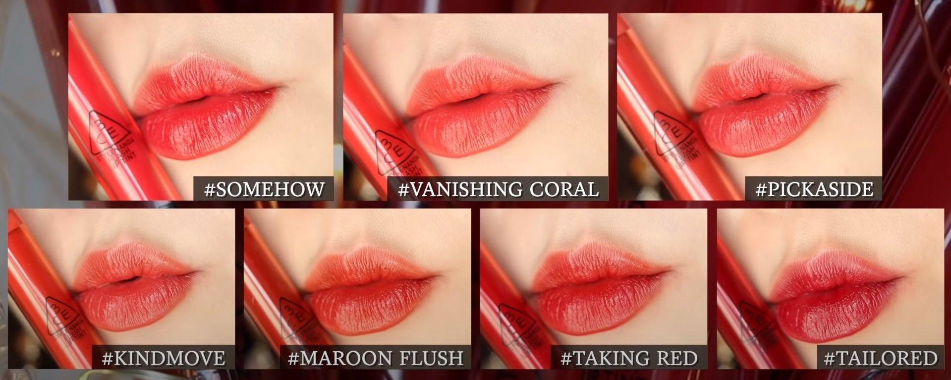 7 màu son ngọt ngào của Flash Lip Tint (Nguồn: Luchina)