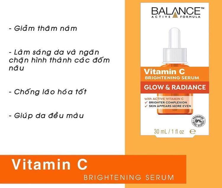Tinh Chất Làm Sáng Da Balance Vitamin C Brightening Serum Glow & Radiance (30ml)