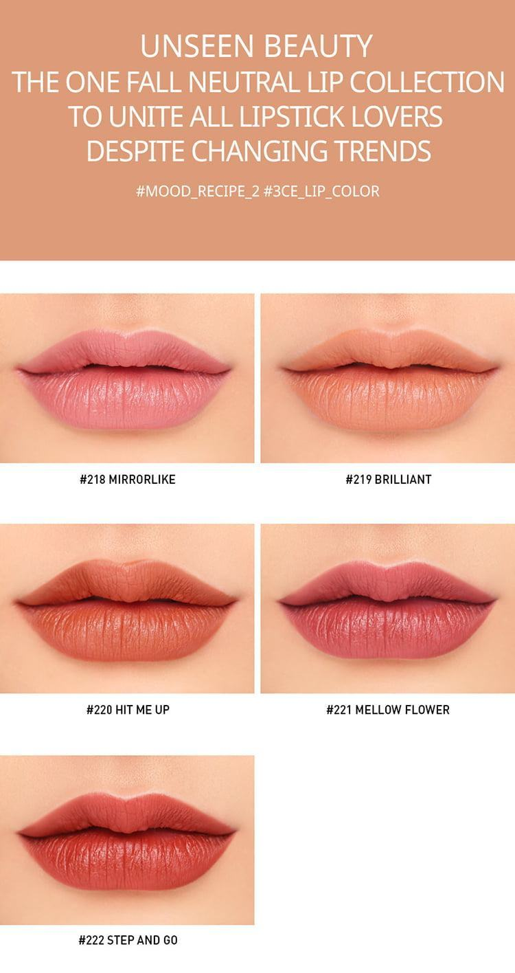 Son Thỏi 3CE Mood Recipe On & Off Lip Color 222 Step & Go