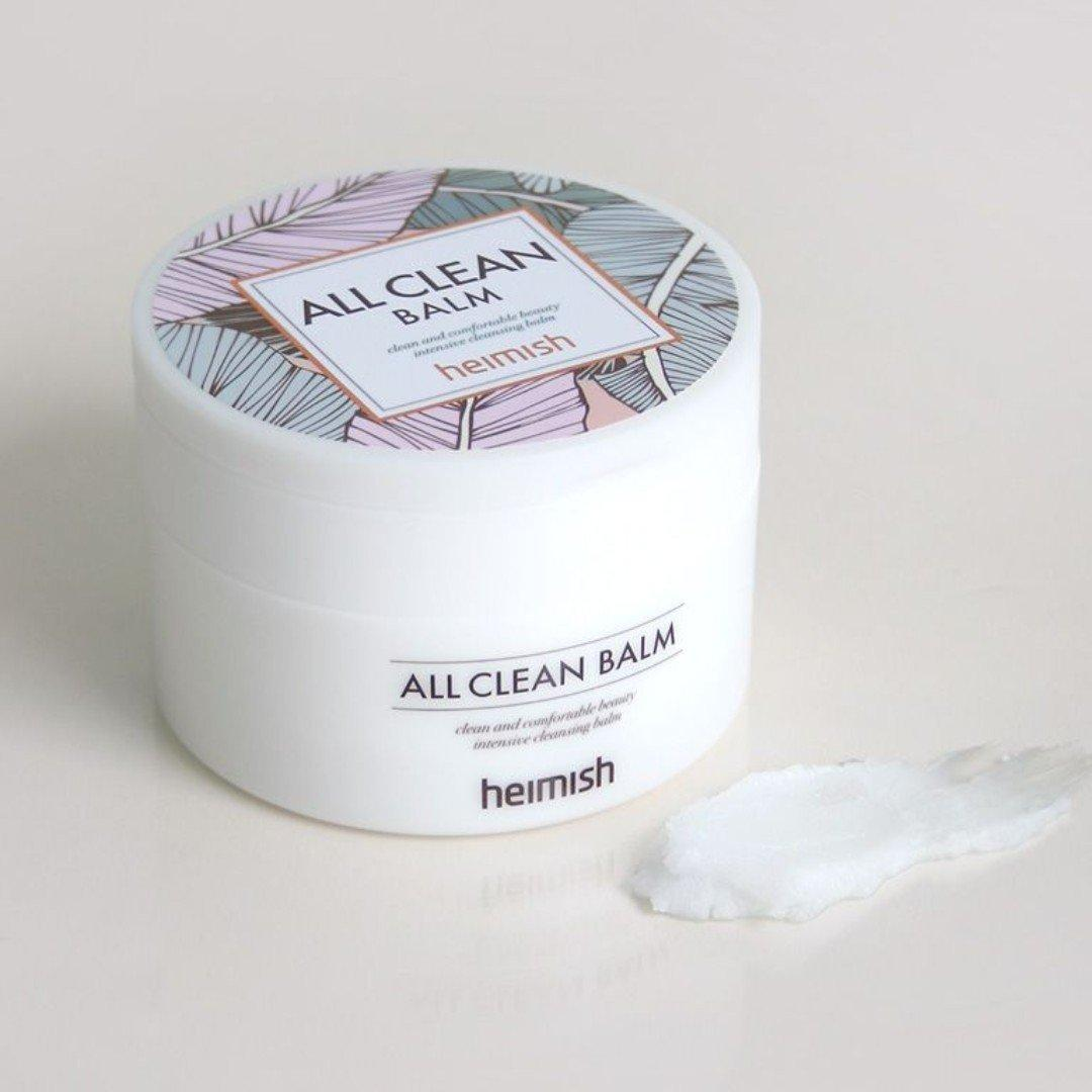Sáp tẩy trang Heimish All Clean Balm có kết cấu màu trắng dạng kem đặc. (nguồn: Internet)
