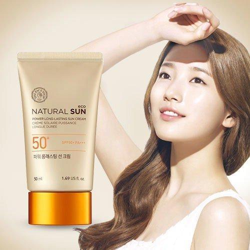 Kem Natural Sun Eco Power Long-Lasting Sun Cream SPF50+ PA+++ chống tia tử ngoại, dưỡng ẩm, trẻ hóa làn da (ảnh: internet).