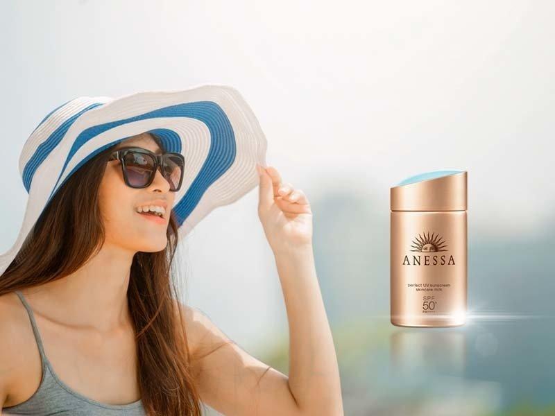 Sản phẩm chống nắng, bảo vệ làn da ở mọi góc độ trong suốt nhiều giờ (ảnh: internet).