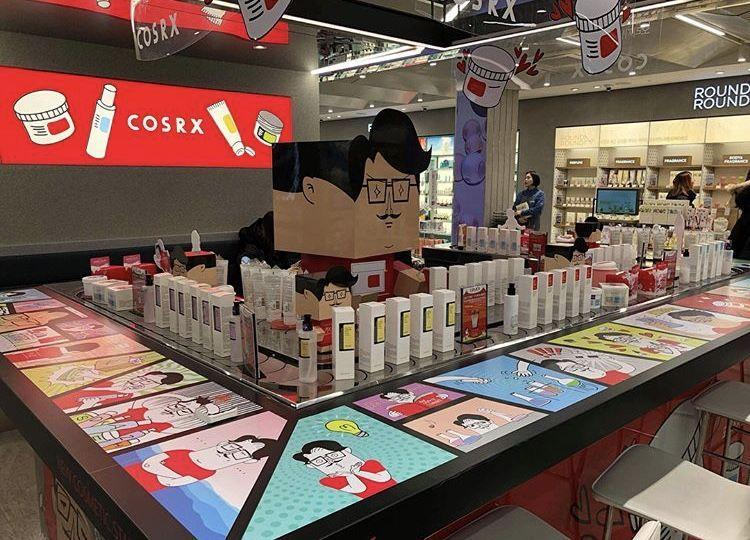 Một cửa hiệu bán mỹ phẩm COSRX tại Hàn Quốc (ảnh: internet).