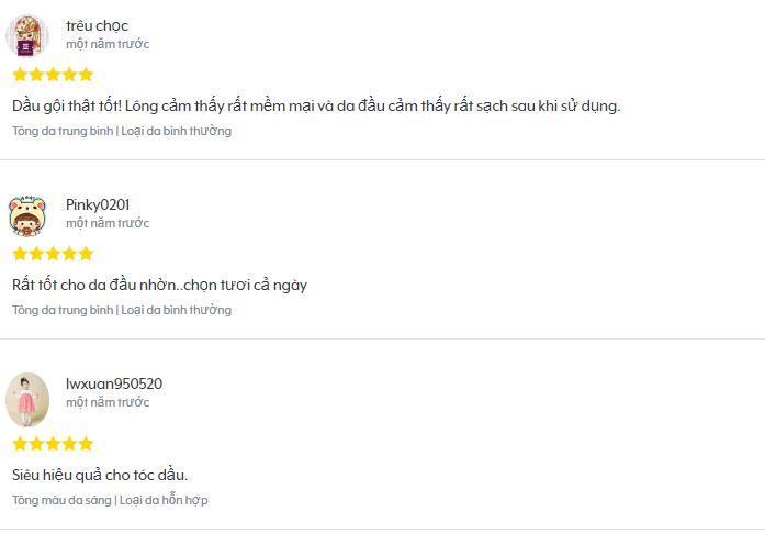 Những ý kiến đánh giá tốt về sản phẩm của khách hàng trên trang Hermo (ảnh: BlogAnChoi).