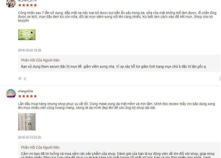 Đánh giá từ khách hàng sử dụng trên trang Shopee (Ảnh: BlogAnChoi)