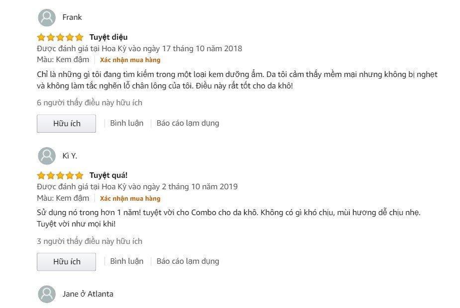 Đánh giá từ khách hàng sử dụng trên trang Amazon (Ảnh: BlogAnChoi)