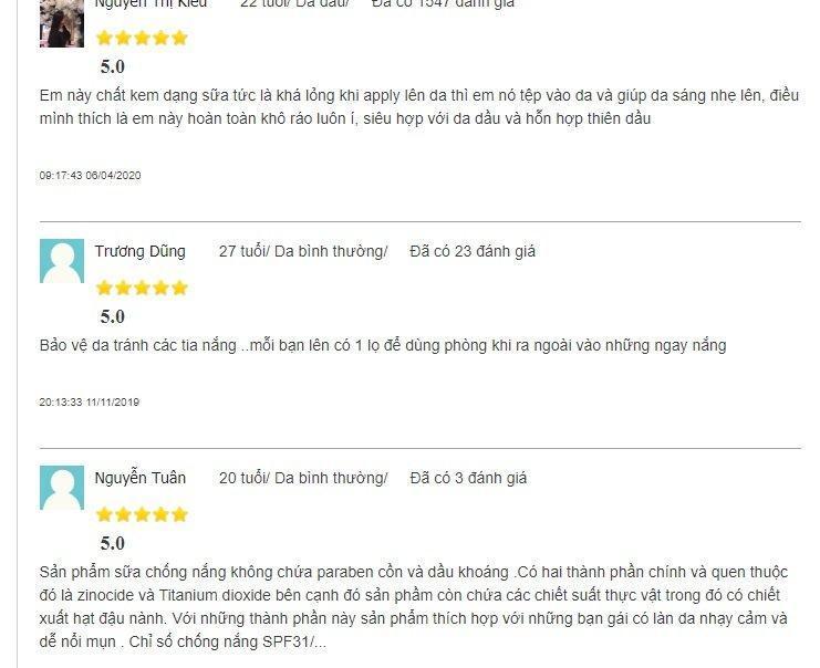 Những ý kiến đánh giá tích cực về sản phẩm trên trang Mypham (ảnh: BlogAnChoi).