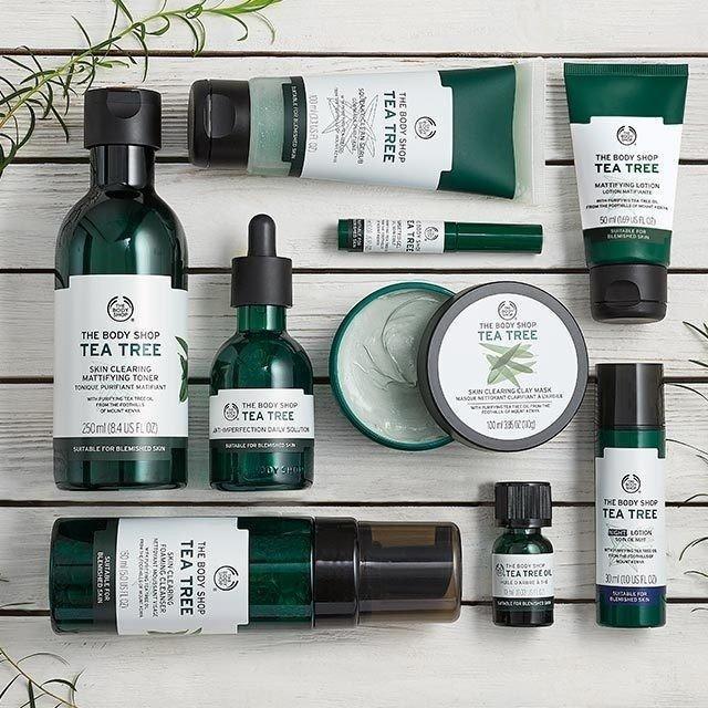 Hình ảnh các sản phẩm dòng Tea Tree của The Body Shop (Nguồn: Internet)