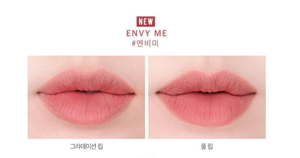 Son Roamand Zero Gram Matte Lipstick màu Envy me (ảnh: Internet)