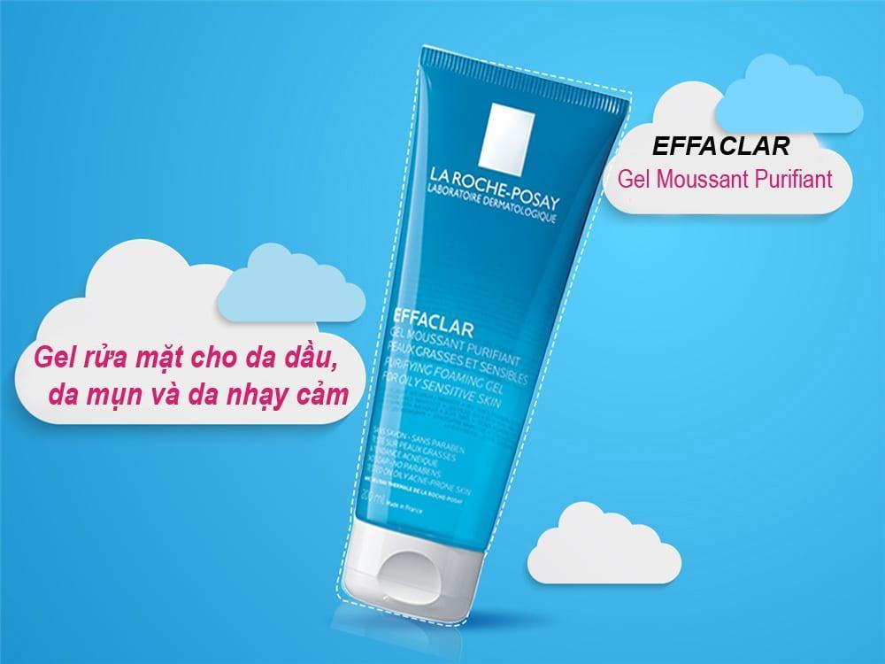 La Roche-Posay Effaclar Purifying Foaming Gel có khả năng làm sạch rất tốt, hỗ trợ điều trị mụn cho da dầu. (nguồn: Internet)
