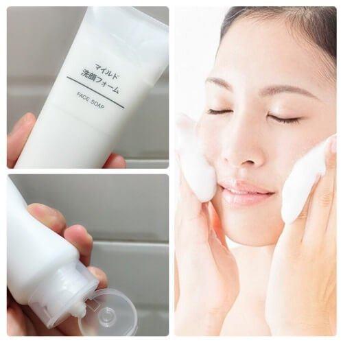 Sữa rửa mặt Muji Face Soap Moisture đảm bảo an toàn, lành tính cho da