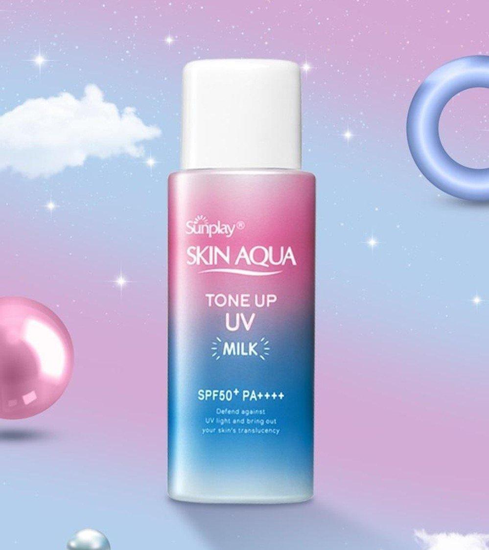 kem chống nắng dạng sữa Sunplay Skin Aqua Tone Up UV Milk