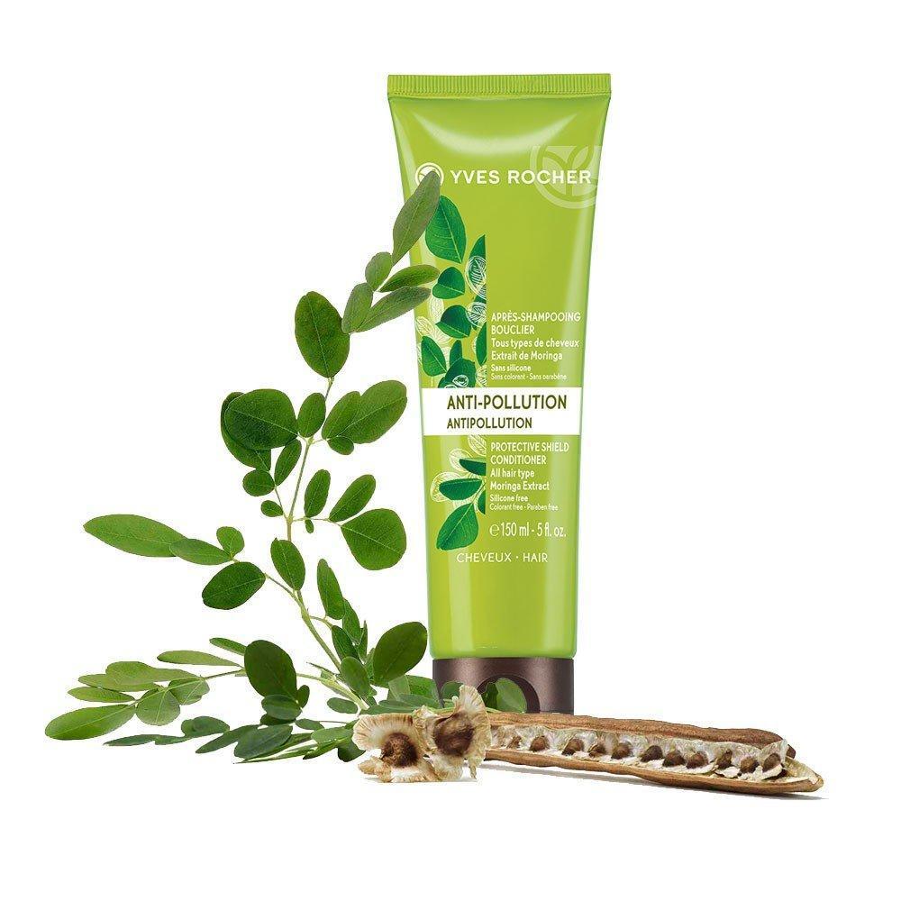 Dầu xả Yves Rocher Anti-Pollution Protective Shield Conditioner có thành phần chính là lá chùm ngây với nhiều công dụng làm đẹp tuyệt vời cho tóc. (nguồn: Internet)
