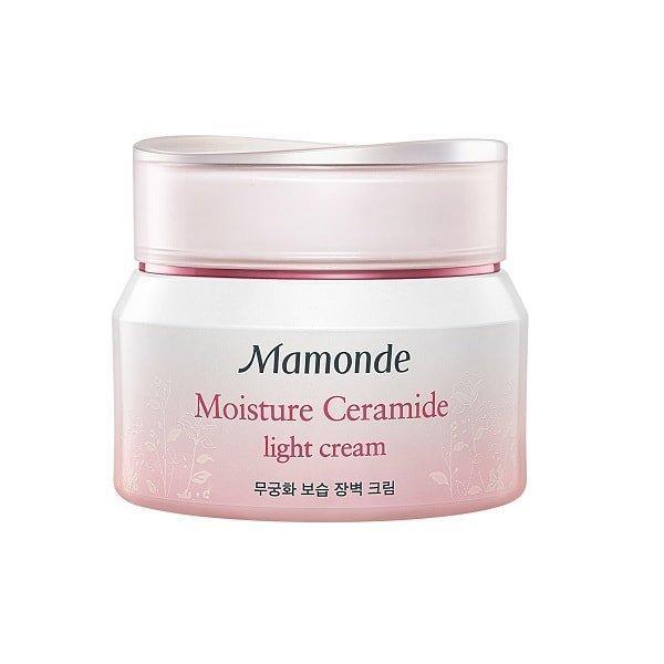 Kem dưỡng ẩm Mamonde Moisture Ceramide Light Cream không chứa phẩm màu và các chất bảo quản (ảnh: internet).