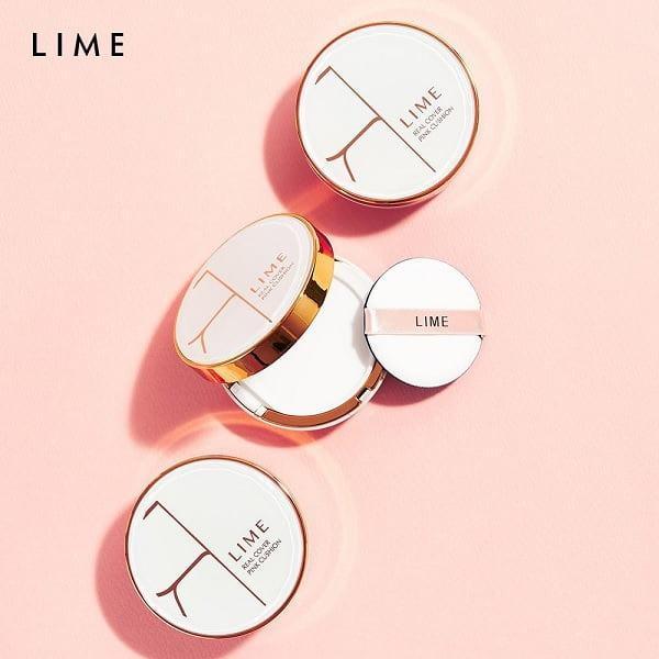Hình ảnh thực tế Phấn Nước Kiềm Dầu Lime Real Cover Pink Cushion SPF50+ PA+++ (Old Design)