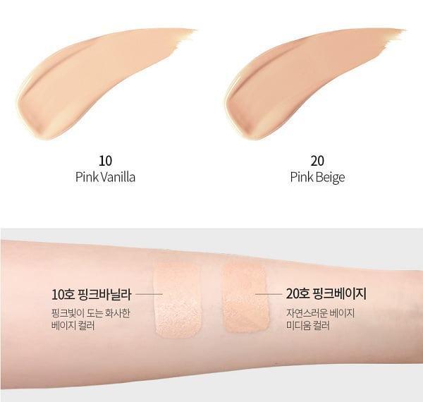 Tone màu Phấn Nước Kiềm Dầu Lime Real Cover Pink Cushion SPF50+ PA+++ (Old Design)