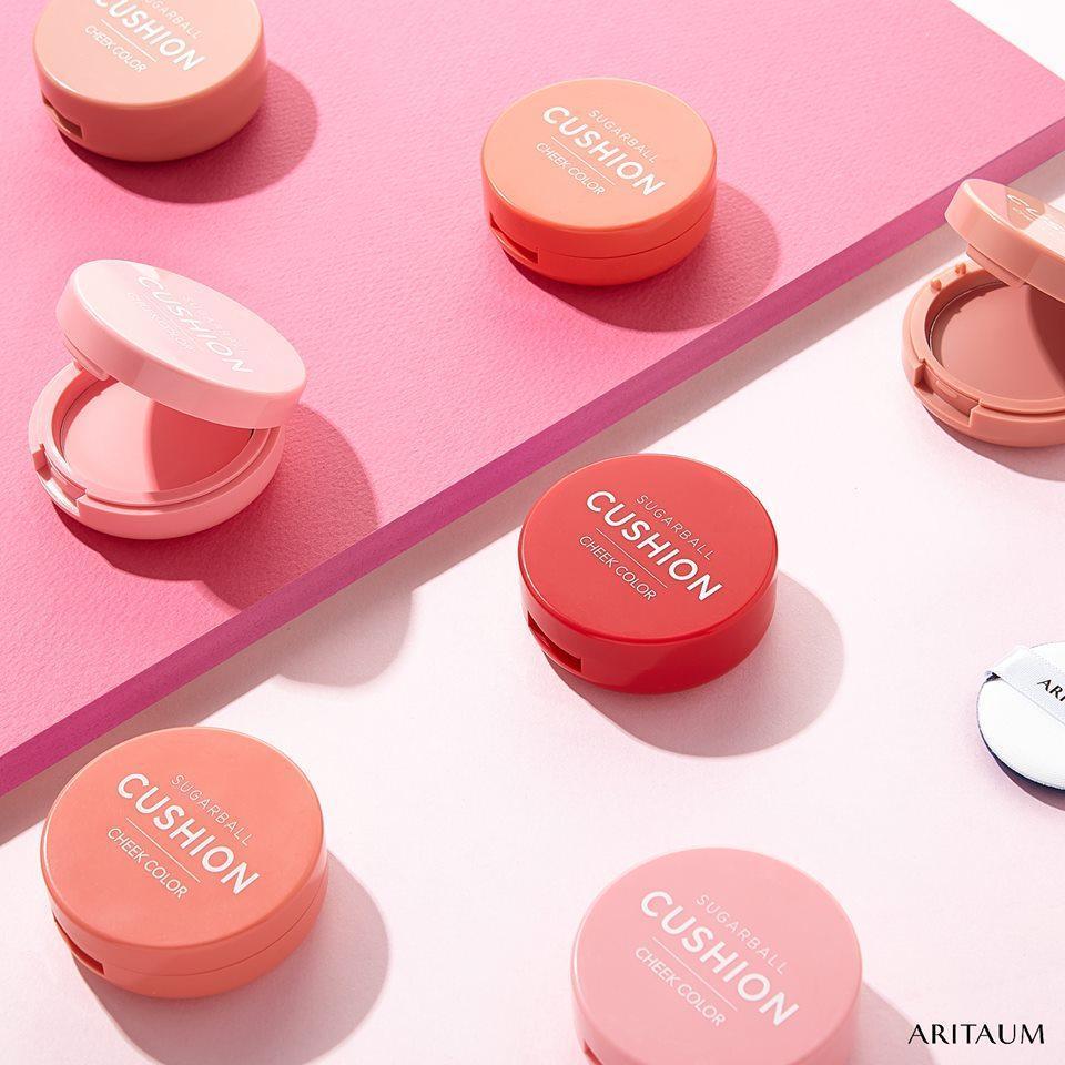 Má hồng kem Aritaum Sugarball Cushion Cheek Color có thiết kế như những viên kẹo đủ màu sắc rất đáng yêu. (nguồn: Internet)