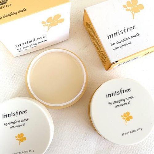 Mặt nạ ngủ môi chiết xuất từ mật ong và dầu cải Innisfree (Ảnh: BlogAnChoi)