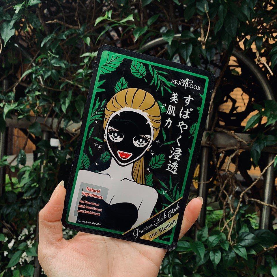 Công dụng của mặt nạ tràm trà SEXYLOOK Tea Tree Anti Blemish Black Facial Mask