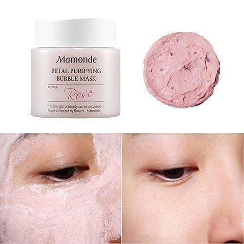 Mặt nạ thải độc Mamonde chứa các cánh hoa hồng tươi chống oxy hóa hiệu quả (Ảnh: Internet)