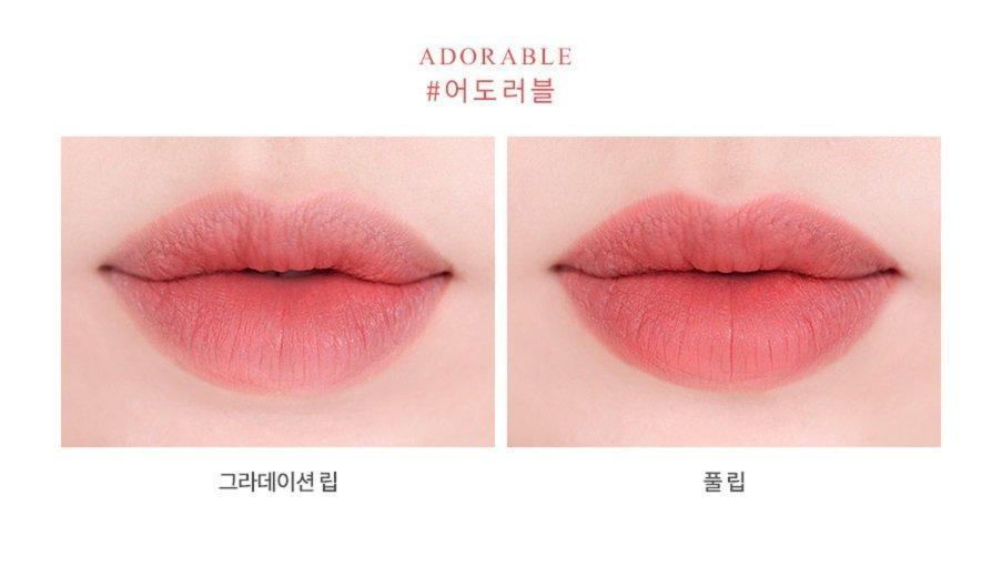 Son Roamand Zero Gram Matte Lipstick màu Adorable (ảnh: Internet)