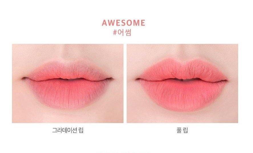 Son Roamand Zero Gram Matte Lipstick màu Awesome (ảnh: Internet)