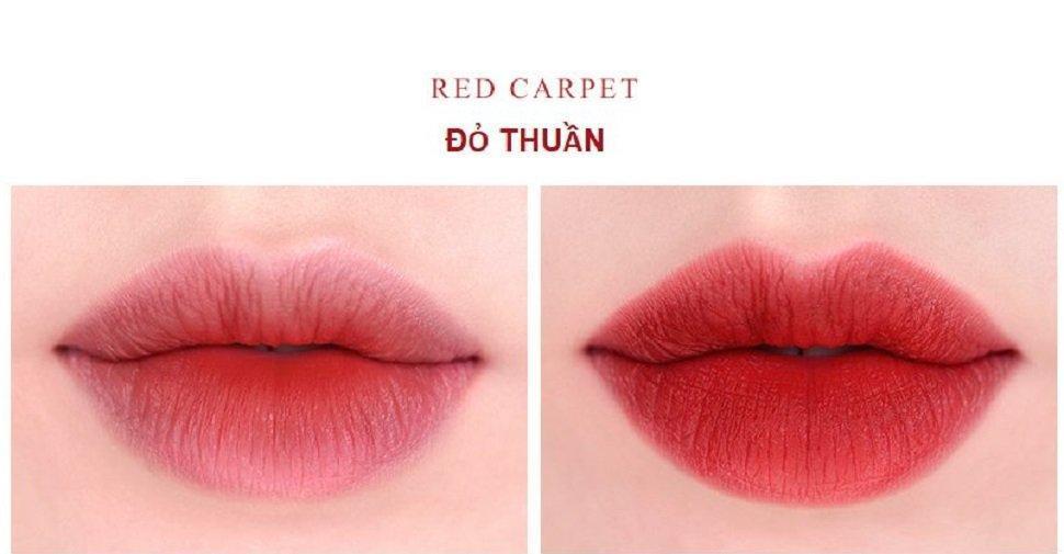 Son Roamand Zero Gram Matte Lipstick màu Red Carpet (ảnh: Internet)
