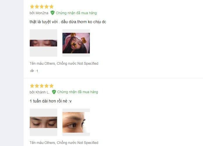 Review mascara dầu dừa dưỡng mi Milaganics