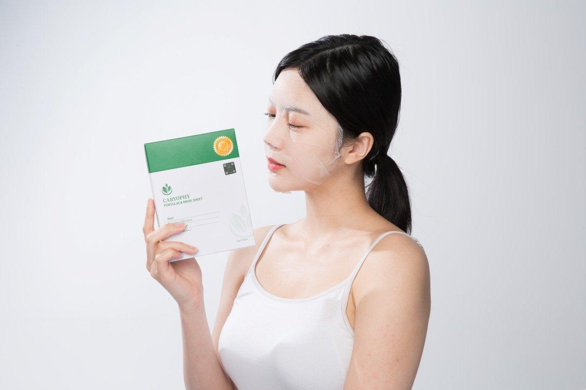 Mặt nạ giấy Caryophy được xem là mặt nạ tốt cho da dầu mụn, rất đáng để trải nghiệm. (Ảnh: Internet)