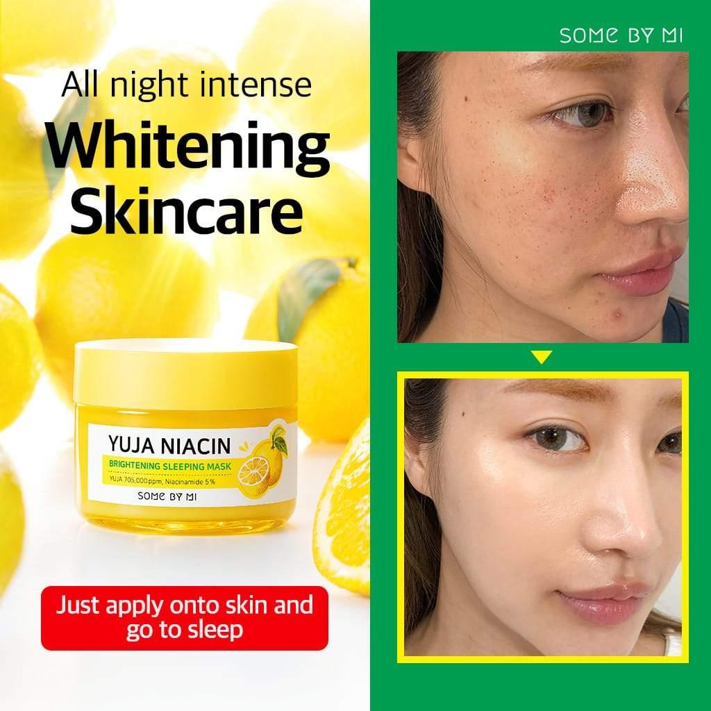 Review mặt nạ ngủ Some By Mi Yuja Niacin 30 Days Miracle Brightening  Sleeping Mask: Cấp ẩm, dưỡng trắng và làm mờ thâm - CHÂU STORE