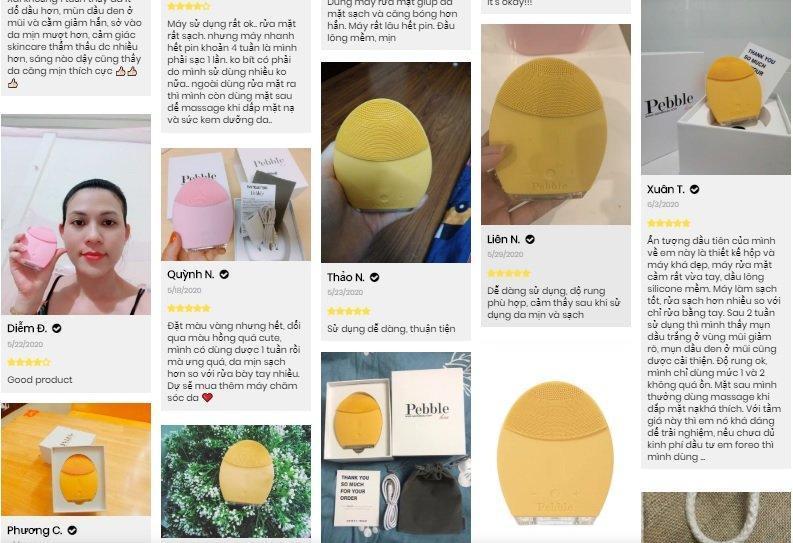 Máy rửa mặt Pebble Lisa nhận được nhiều review tốt từ người dùng thực tế. (Nguồn: BlogAnChoi)