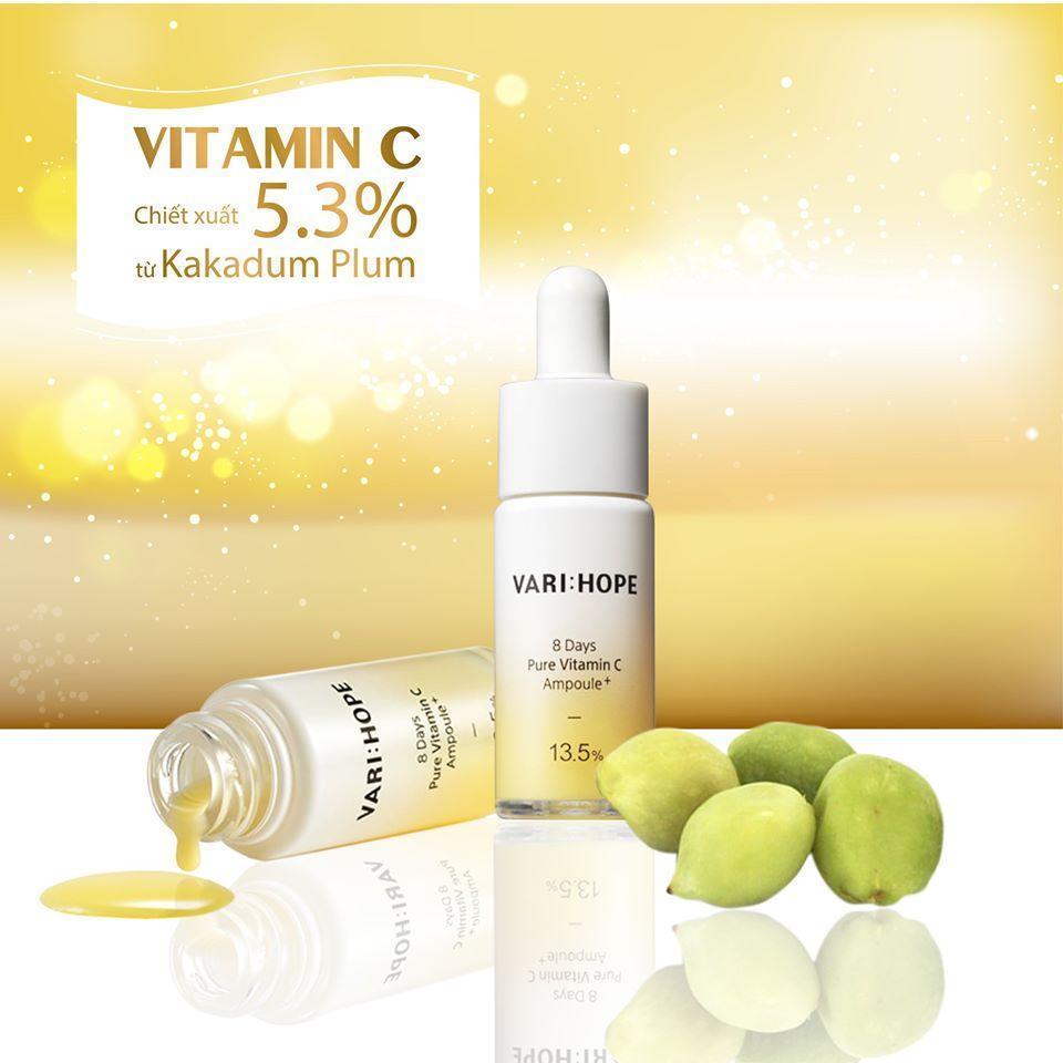Khi bạn sử dụng tinh chất Vari:Hope 8 Days Pure Vitamin C Ampoule Plus bạn sẽ cảm nhận được mùi hương tự nhiên, chủ yếu chính là từ mận Kakadu và tinh dầu cà rốt (Nguồn: Internet).