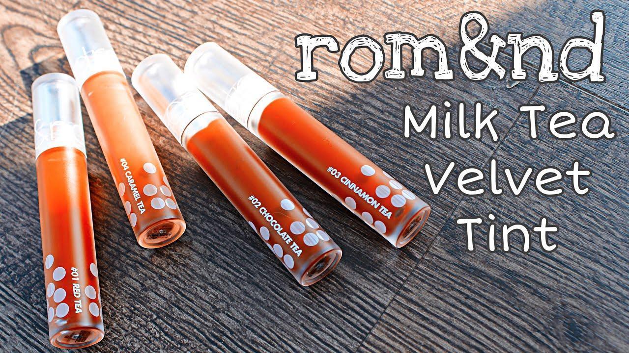 Romand Milk Tea Velvet Tint có chất son mịn và mượt rất thích. (nguồn: Internet)