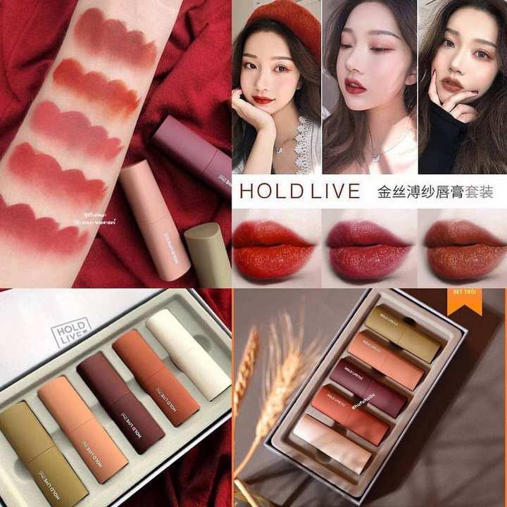 Set 5 thỏi son Holdlive Mousse Velvet Lipstick (Ảnh: Internet)
