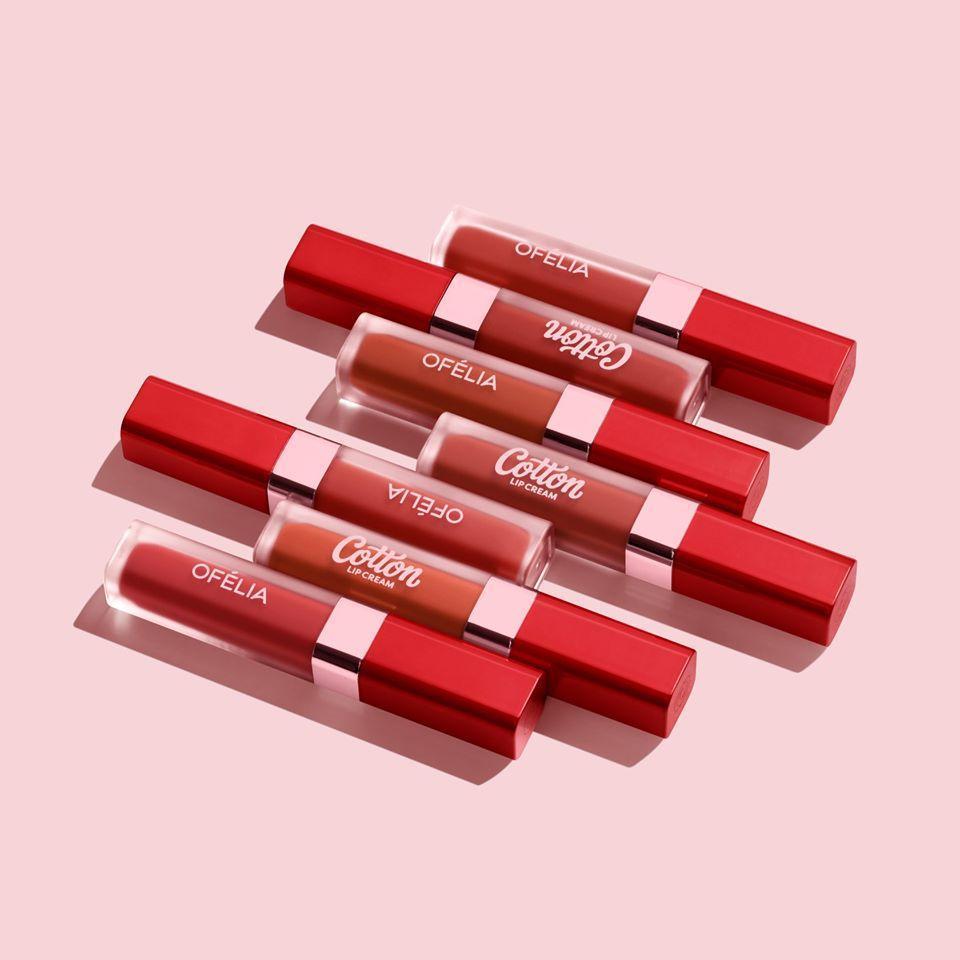 OFÉLIA Cotton Lip Cream có mùi hương trái cây nhẹ dễ chịu. (nguồn: Internet)