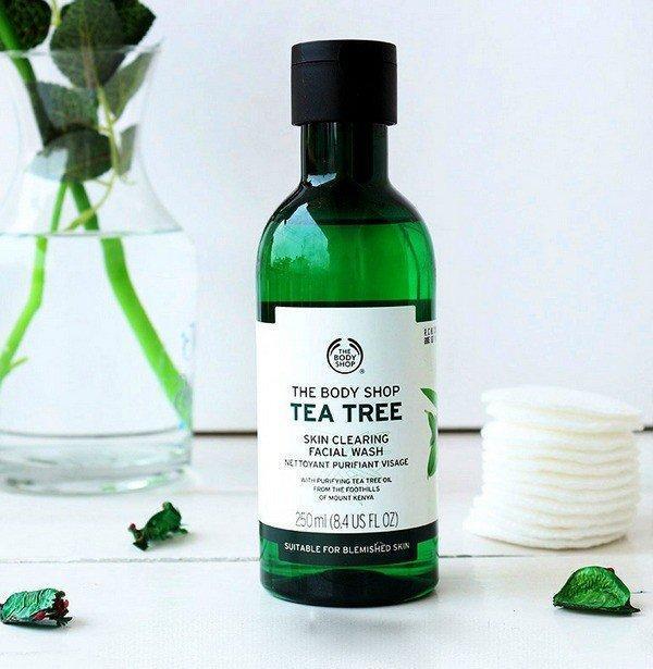 Sữa rửa mặt dạng gel, dòng Tea Tree, The Body Shop, một sự đầu tư đầy kinh tế. Nguồn: Internet