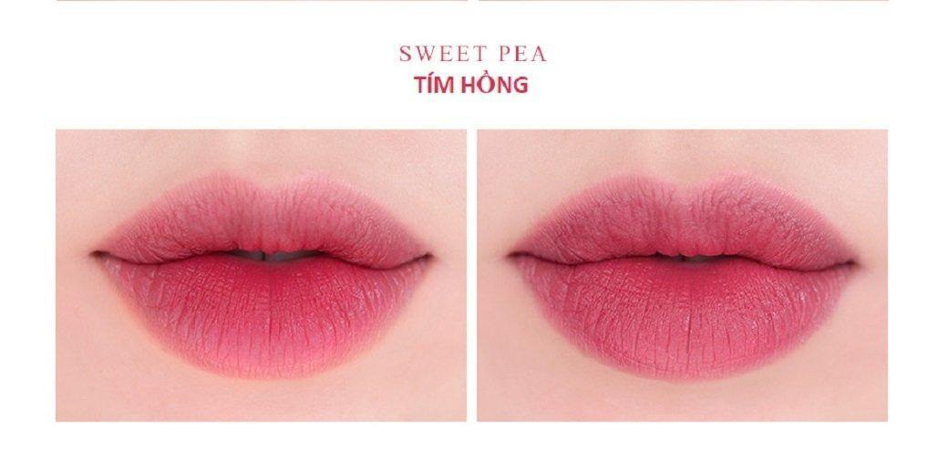 Son Roamand Zero Gram Matte Lipstick màu Sweet Pea (ảnh: Internet)