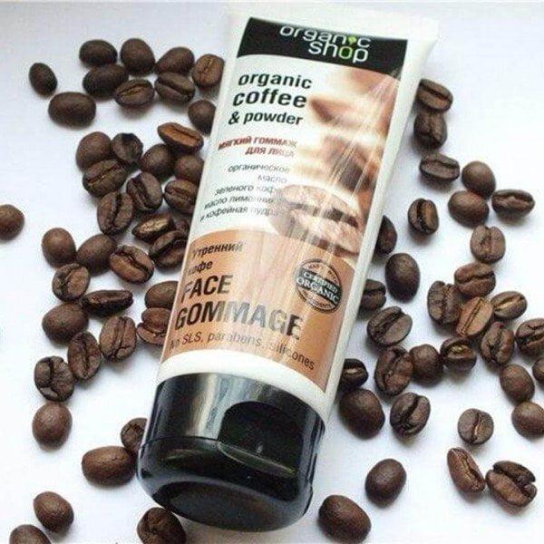 Tẩy tế bào chết cho da mặt Organic Shop Coffee & Powder (Ảnh: Internet).