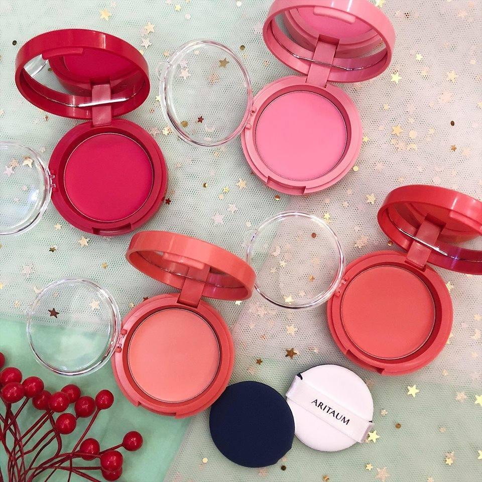 Má hồng kem Aritaum Sugarball Cushion Cheek Color là sản phẩm best seller gần đây của hãng. (nguồn: Internet)
