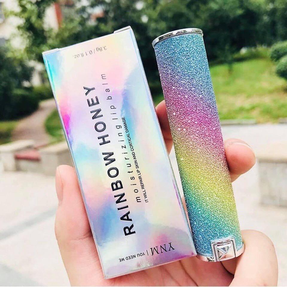 Thiết kế vô cùng chanh xả của son dưỡng môi YNM Rainbow Honey Lip Balm (Ảnh: Internet)