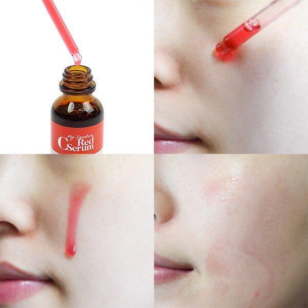 Tiam My Signature Red C Serum có màu sắc đỏ rực như máu rất đặc biệt. (nguồn: Internet)