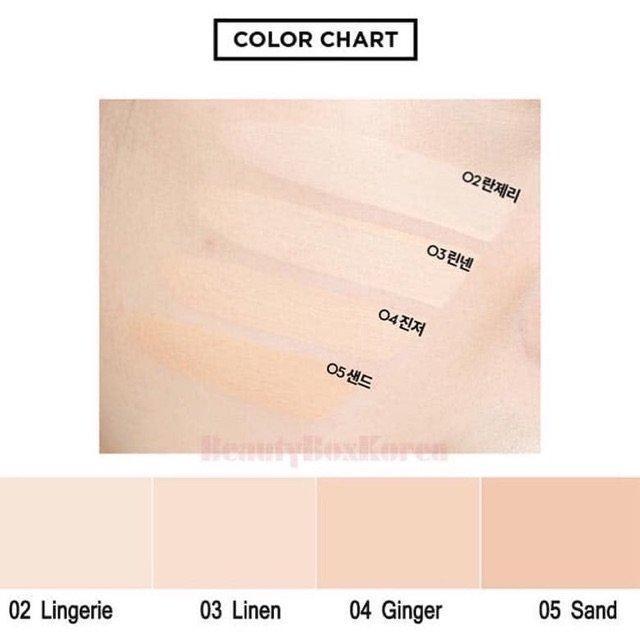 4 tông màu phù hợp với các màu da khác nhau. (nguồn: Internet)
